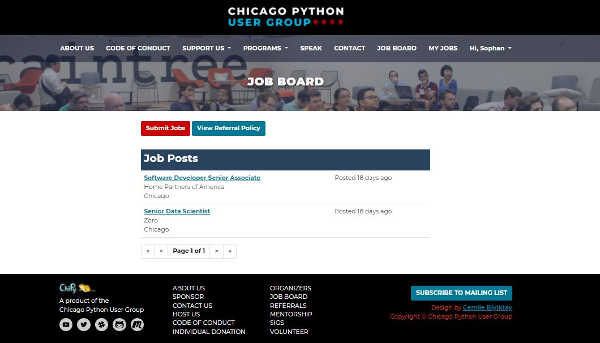 Picture of Job Board at Chipy.org
